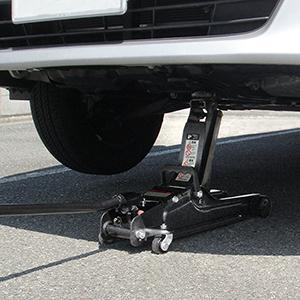 No.1335 ローダウン車対応 油圧ジャッキ 2トン   大橋産業株式会社